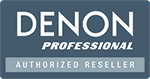 Authorised DENON Professional Reseller Logo