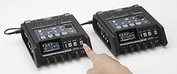 Roland Edirol R-44 4-Channel Portable Sound Recorder, two units linked together