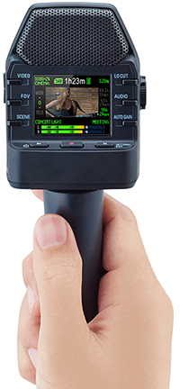 Zoom Q2n Video Camera, with optional MA-2 handle