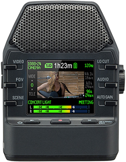 Zoom Q2n Video Recorder, colour LCD screen