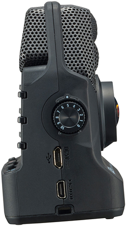 Zoom Q2n Video Camera, right hand side panel