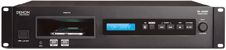 Denon DN-300MP Multimedia Bluetooth Player, front panel