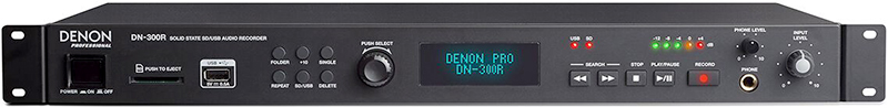 Denon DN-300R SD/USB Recorder, front panel