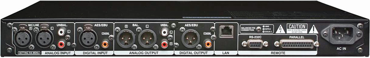 Denon DN-700R Network Solid State Sound Recorder, Rear Panel