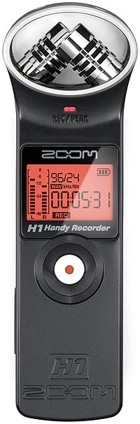 Zoom H1 Handheld Notebook Audio Recorder