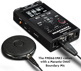 Marantz PMD661MK3 with its included Acoustic Boundary Microphone
