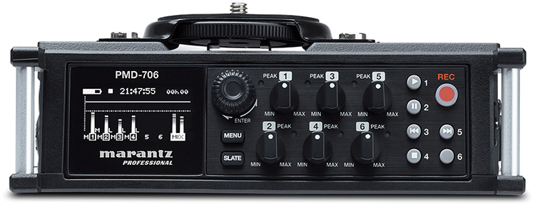 Marantz PMD706 DSLR Audio Recorder, Front Panel