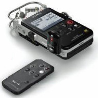 Sony PCM-D100 Portable Hi-Res Audio Recorder, with remote system