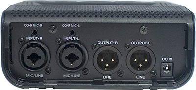 Superscope PMR61 Solid State Sound Recorder, Rear panel