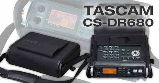 Tascam DR-680MKII 8-Track Portable Field Recorder, in CS-DR680 leather case