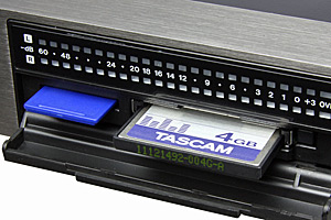 Tascam DA-3000 HD Mastering Recorder, Media Card Slots detail