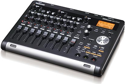 Tascam DP-03SD 8-Track Recorder Portastudio, side-on
