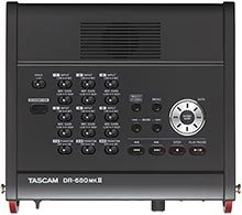 Tascam DR-680MKII 8-Track Portable Field Recorder, top panel