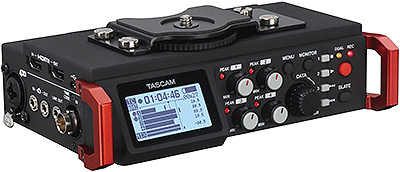 Tascam DR-701D 6-Channel Portable Recorder/Mixer, angled