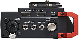 Tascam DR-701D 6-Channel Portable Recorder/Mixer, left hand side panel