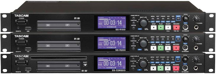 Tascam SS-Series: SS-R100, SS-R200 & SS-CDR200