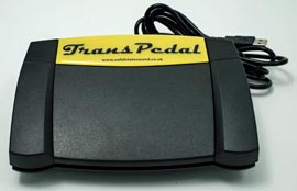 Solid State Sound TransPedal-2015 Transcription Footpedal, front