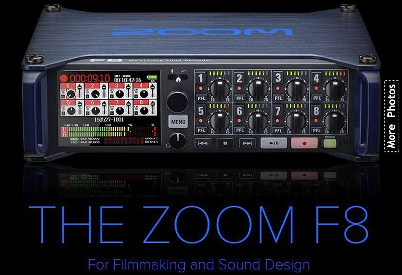 Zoom F8 Professional 8-Track Field Recorder & Mixer