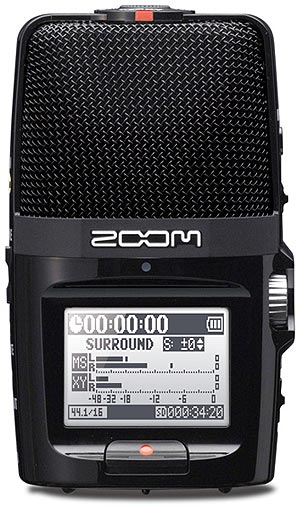 Zoom H2n Portable Stereo Audio Recorder, front panel
