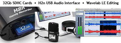 Zoom H2n Portable Stereo Audio Recorder, detail graphic