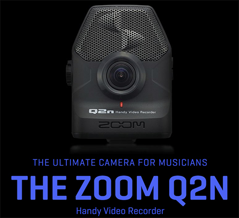 Zoom Q2n Video Camera, header graphic