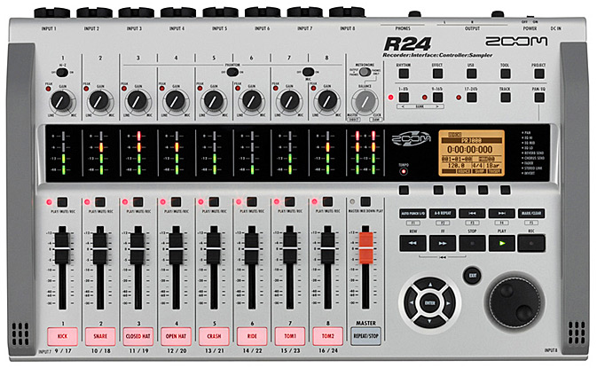 Zoom R24 Portable 24-Track Recorder Mixer Interface Controller Sampler